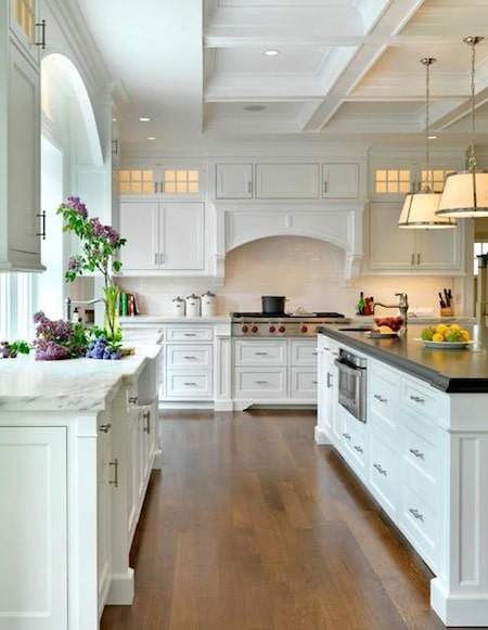 An All-White Kitchen. - Stratton Exteriors