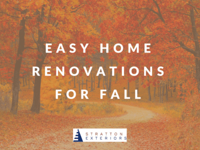 Easy Home Renovations for Fall Graphic With Autumn Leaves